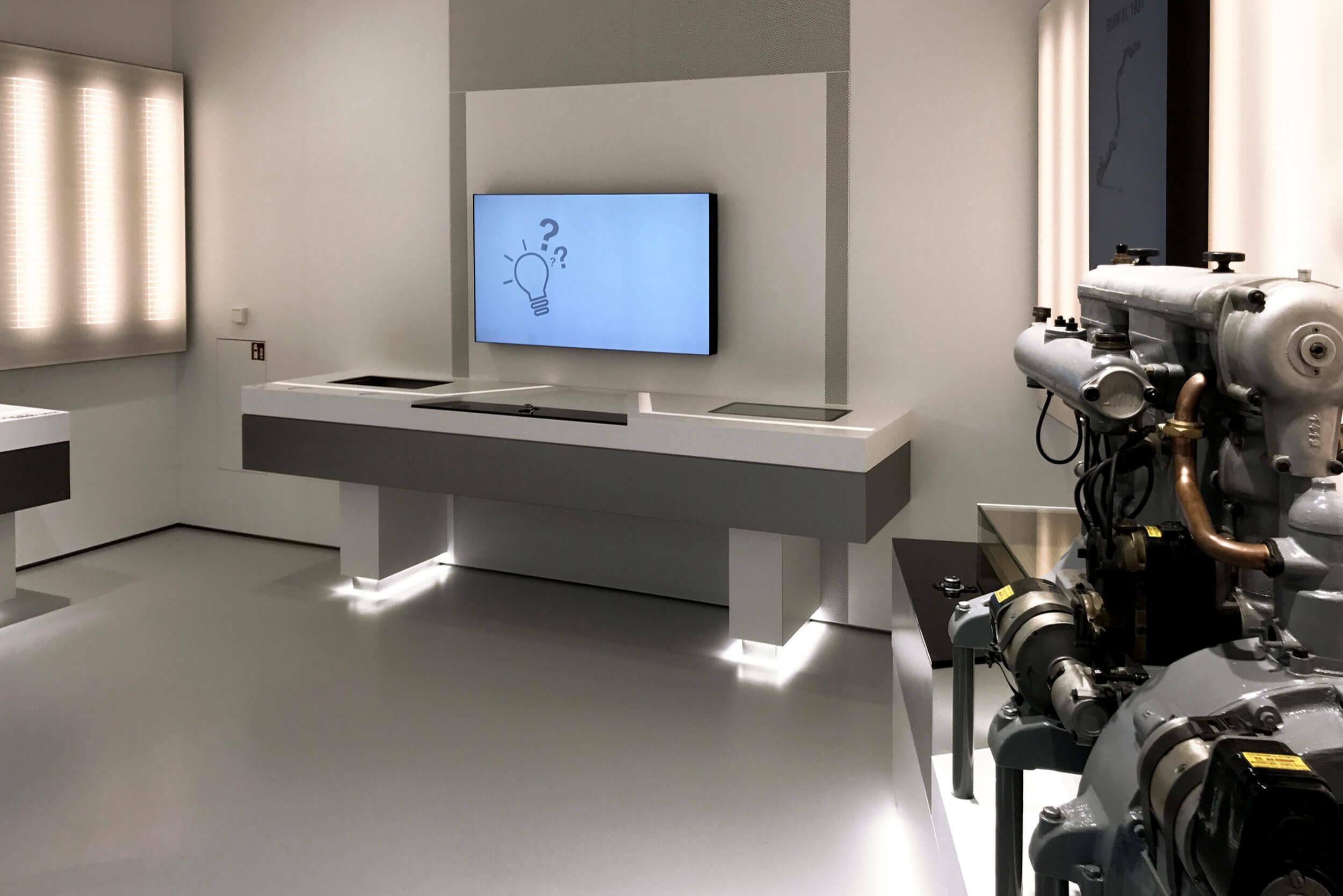 Multimediabereich des BMW Museums