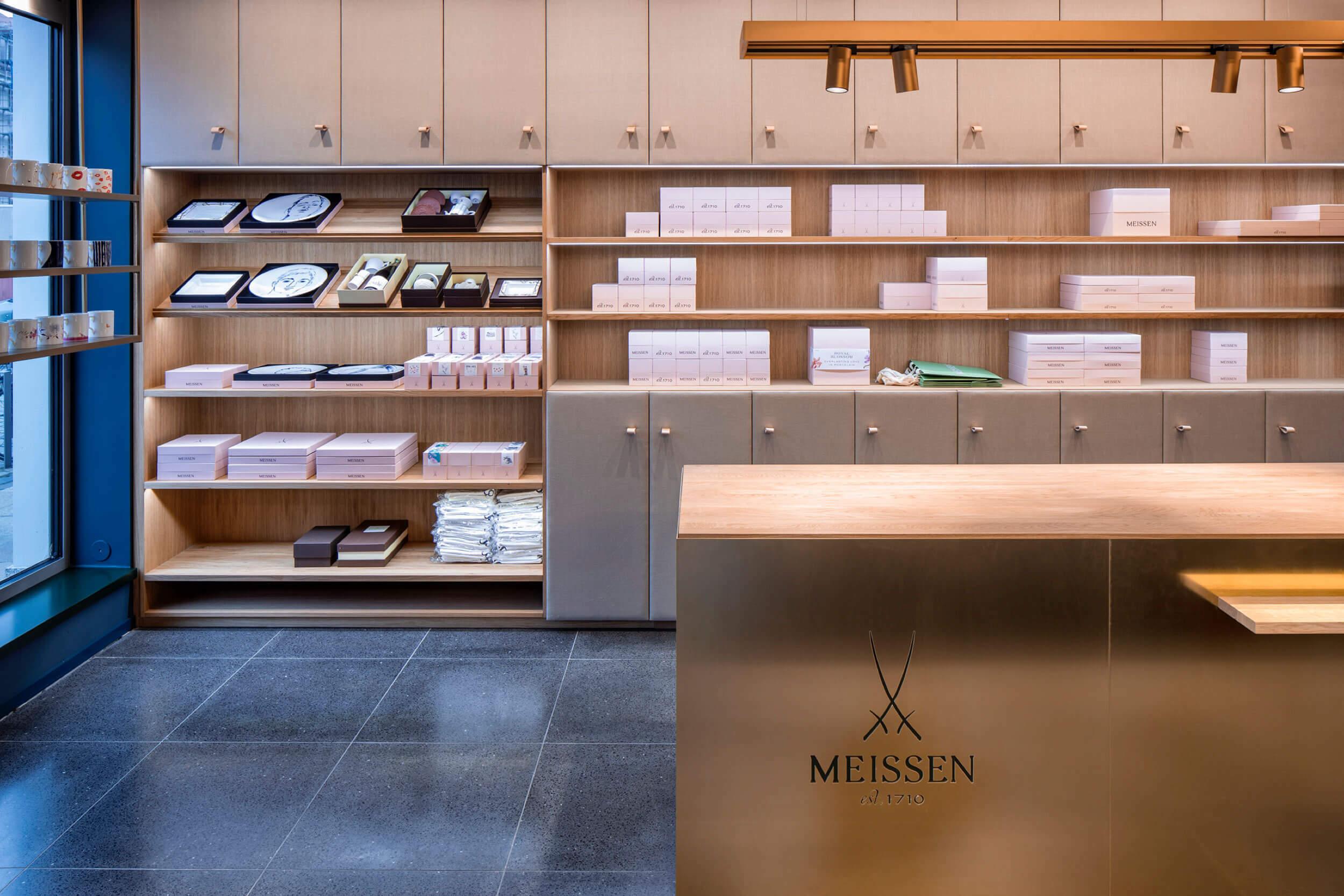 Tresen im Meissen Signature Store