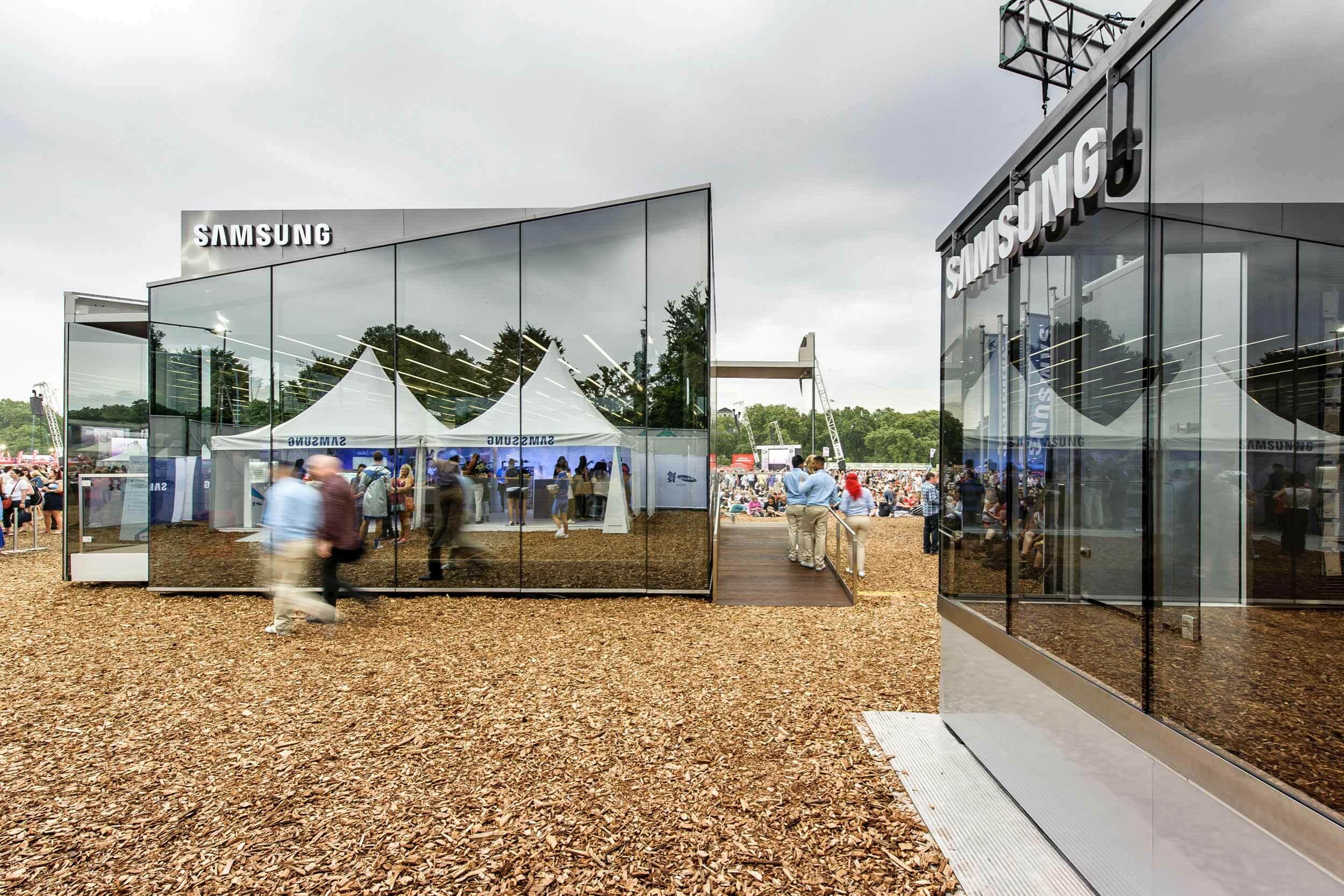 Außenbereich des Samsung Olympic Parks