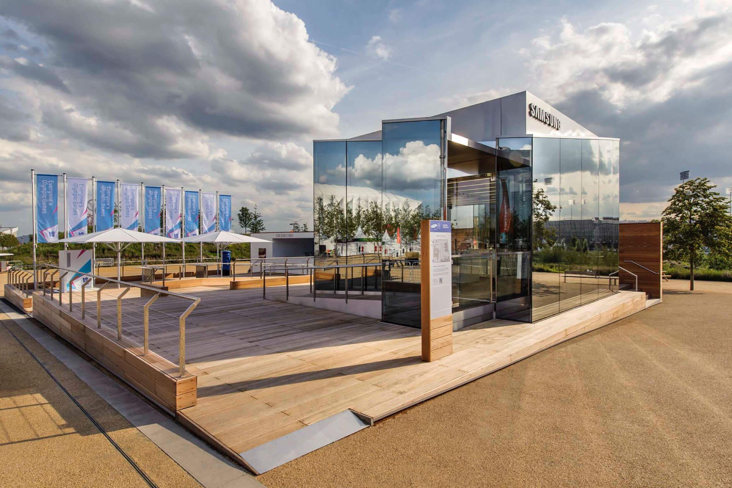 Eingangsbereich des Samsung Olympic Parks
