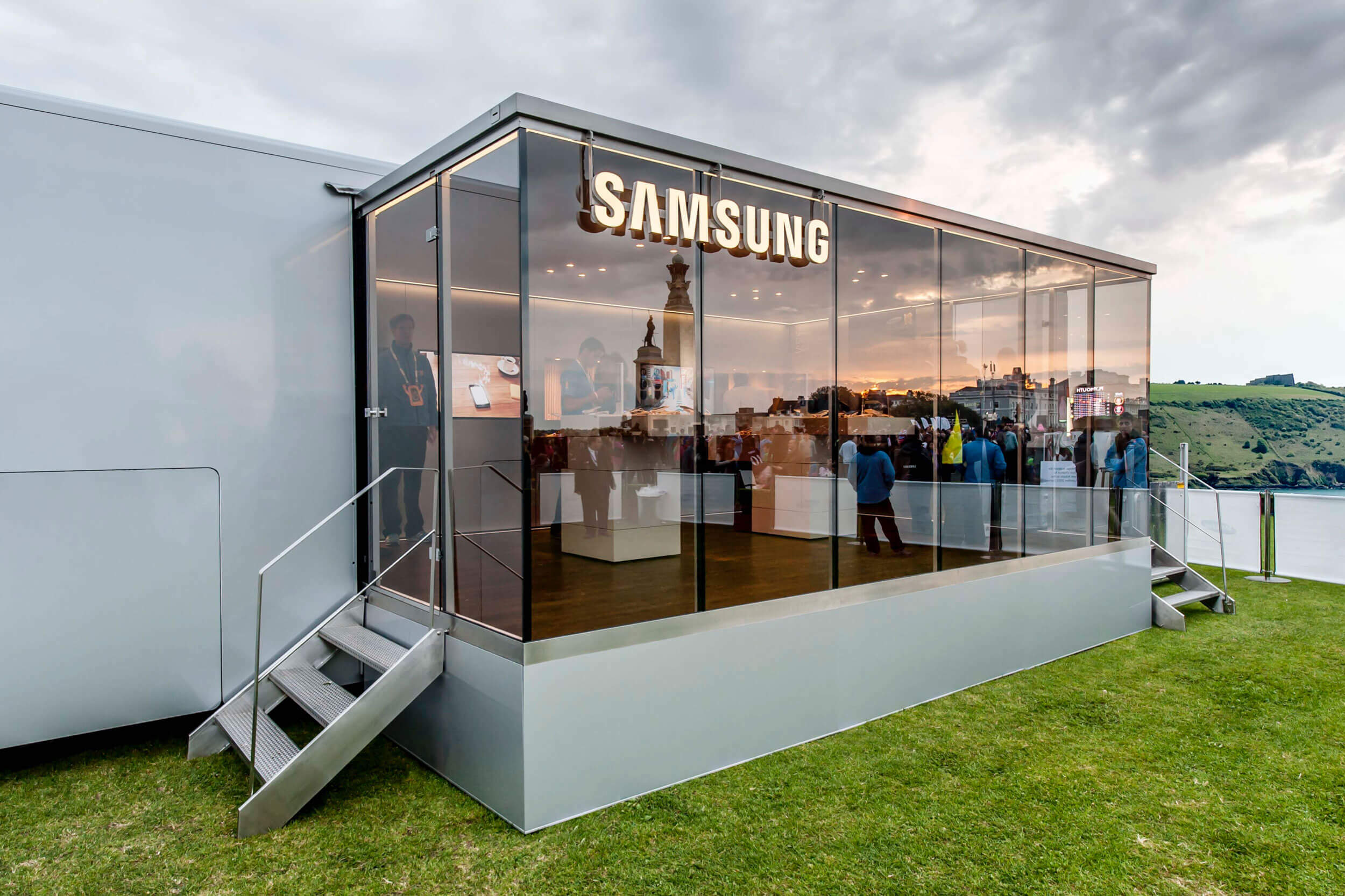 Beleuchteter Bereich des Samsung Olympic Parks