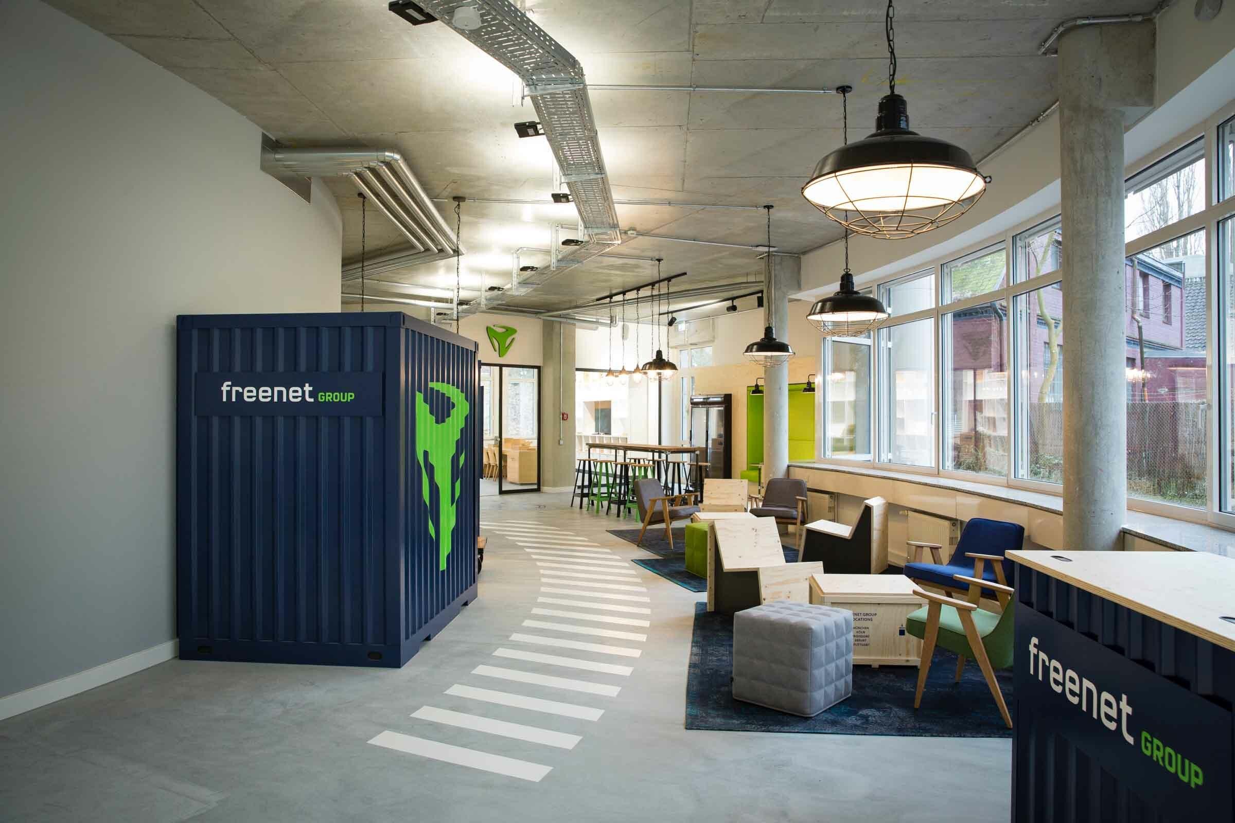 Office Design für den Freenet Campus in Hamburg