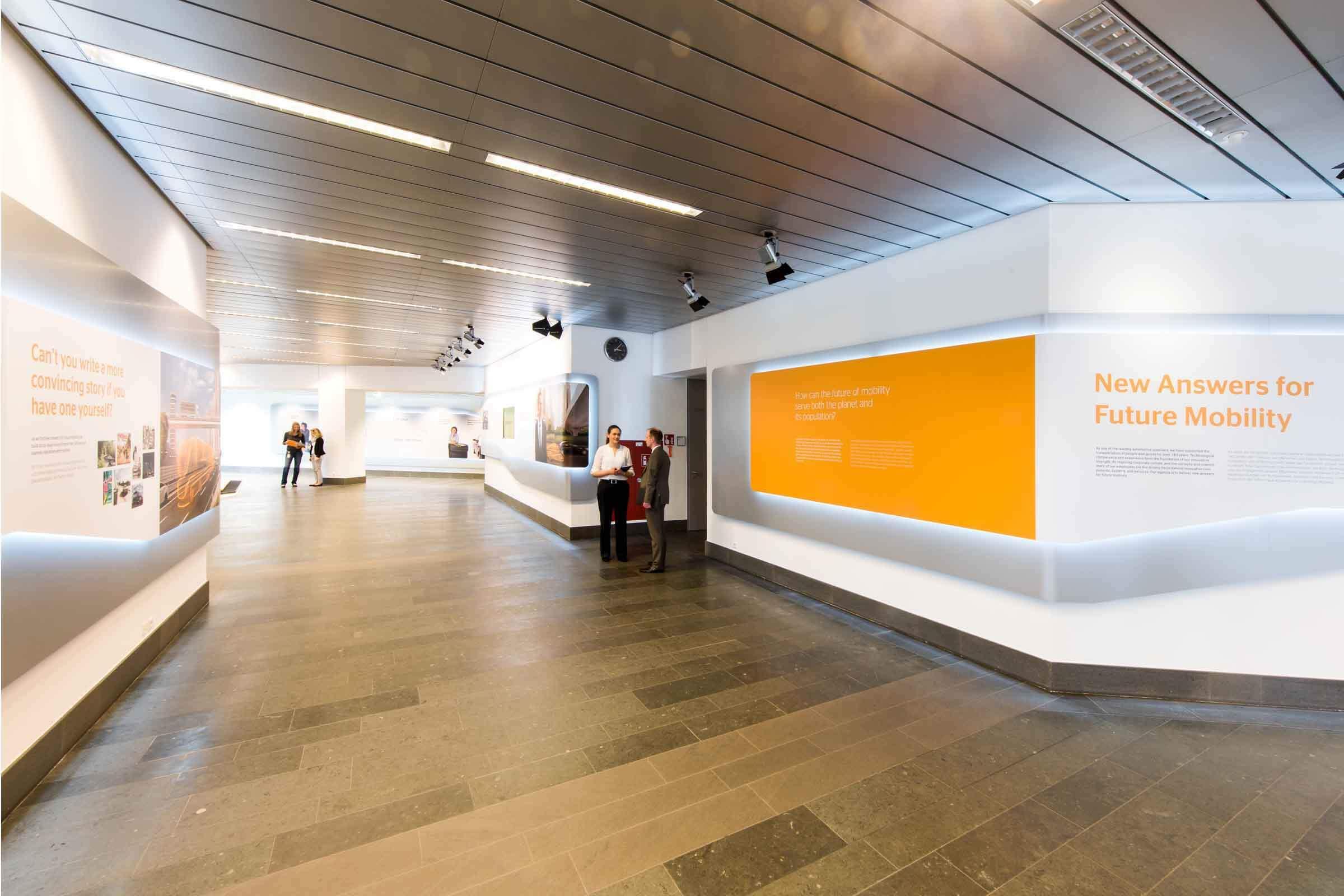 Office Design umgesetzt von Expomondo für den Freenet Campus