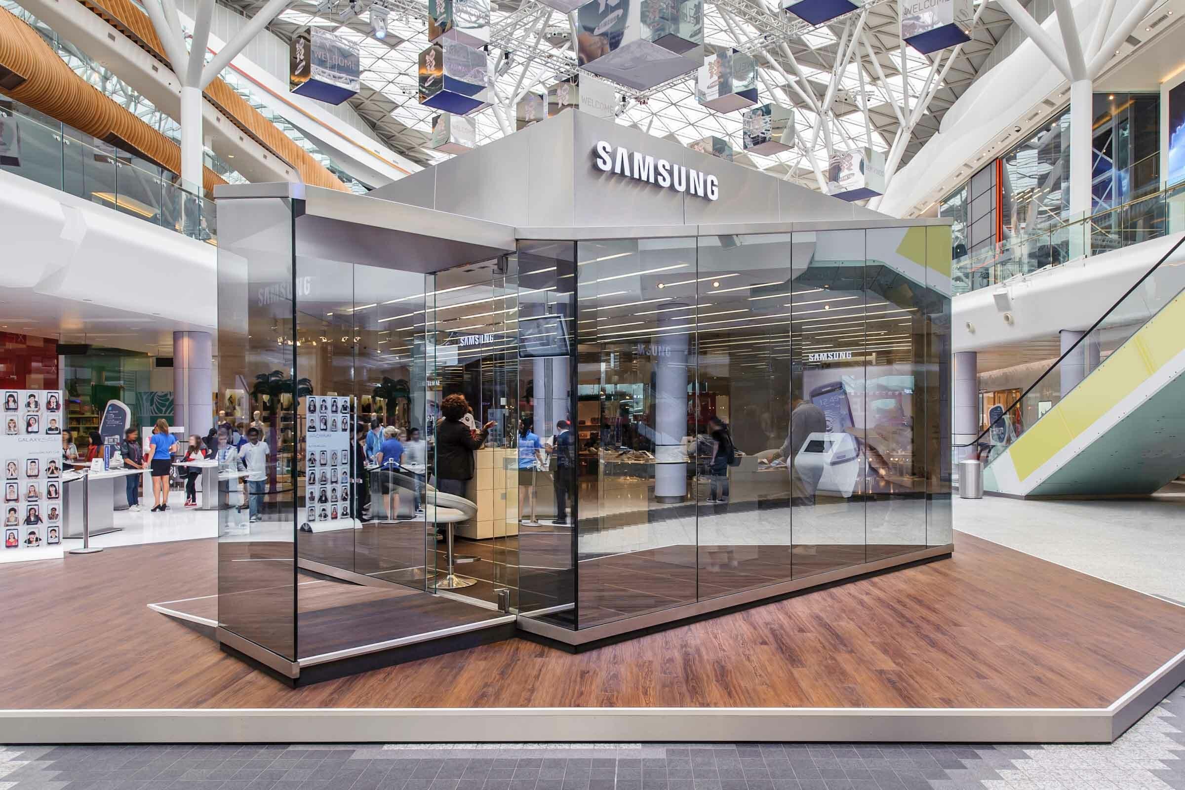 Temporäre Architektur für Samsung umgesetzt von Expomondo