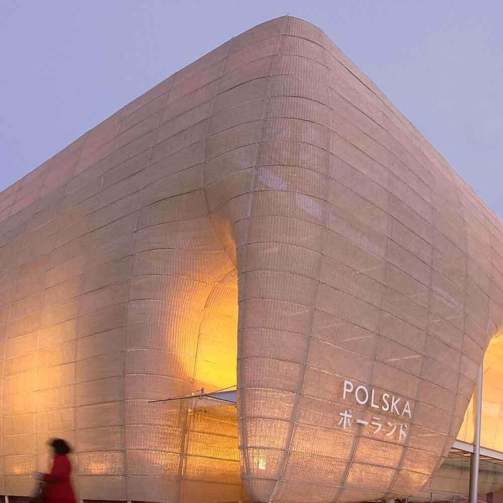Ein Länder-Pavillon von Polen auf einer Expo in Japan